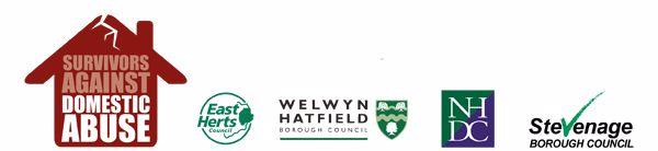 Partner logos, SADA, East Herts, Welwyn Hatfield, North Herts and Stevenage Borough Council