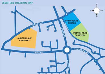 Location map of the two Cemeteries