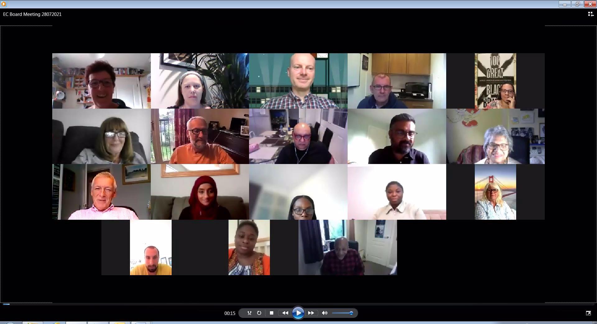 Screenshot of SEC meeting on 28 July 2021
