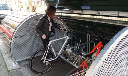 Bike placed in hangar