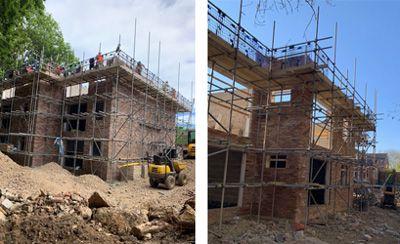 Addison house under construction
