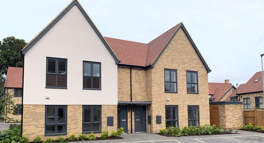 Blackwell Close completed houses