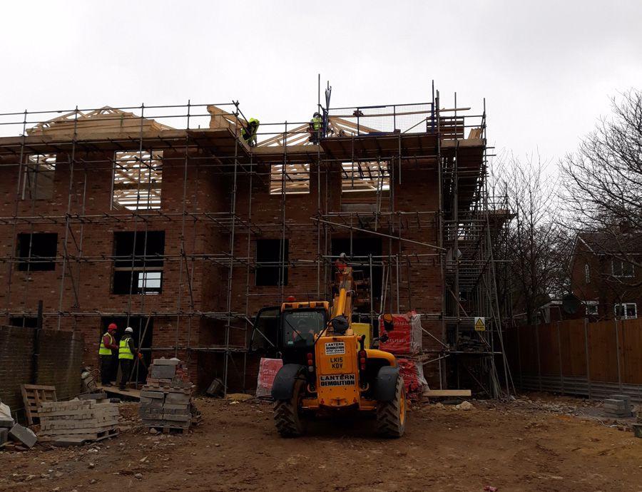 Burwell Court under construction