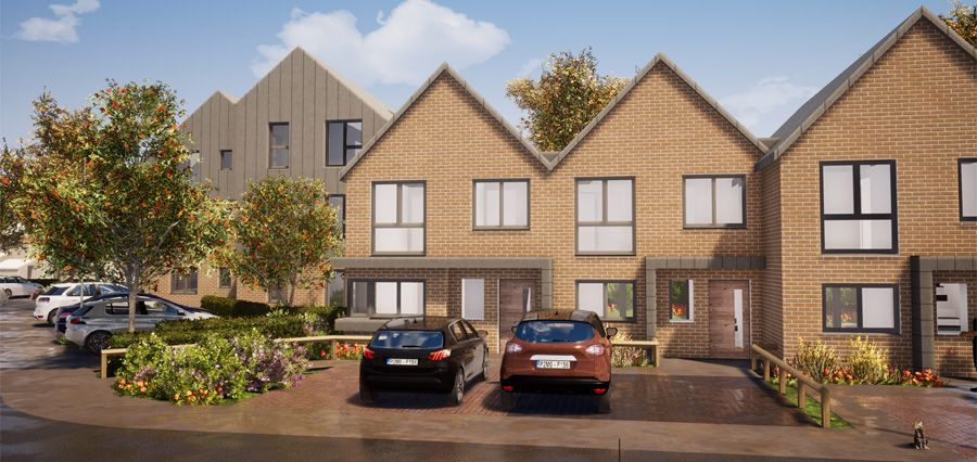 Artist's impression of Kenilworth Close when it will be finished