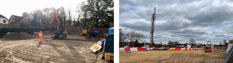 Kenilworth Close construction site