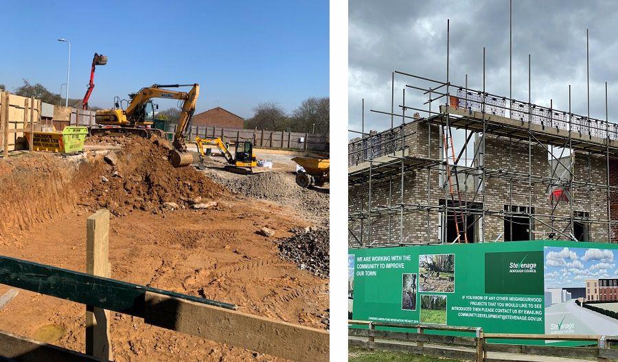 Symonds Green under construction