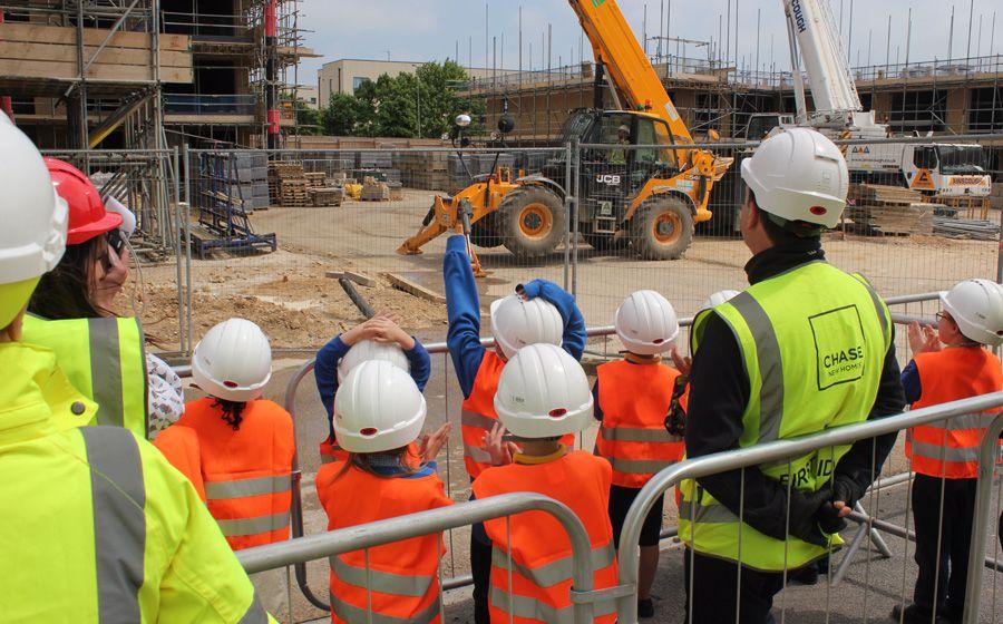 Schools visiting Wedgewood Way construction site