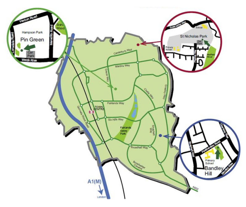 Map showing the location of our Play Centres