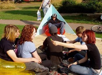 Young people gather to talk about the future of the Town Centre Gardens