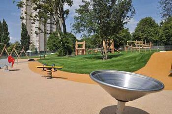 Play area in the Town Centre Gardens