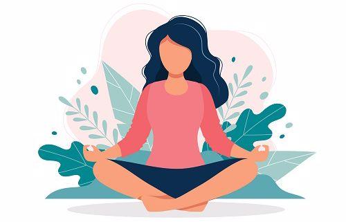 Image of someone sitting and meditating