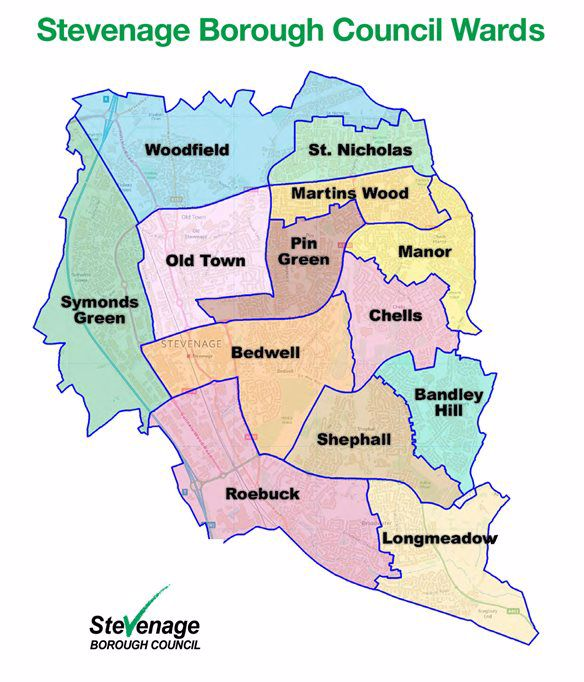 Ward Map of Stevenage