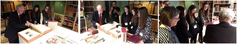 Pictures from the filming at Eton College Library