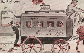 Postcard sent to Elizabeth impey, copyright North Herts Museum