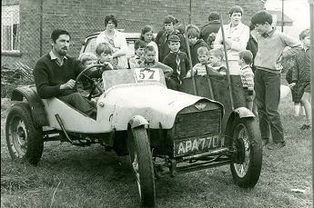 5th Stevenage Scouts in 1969 with a Klipspring Trials Car in Shephall View
