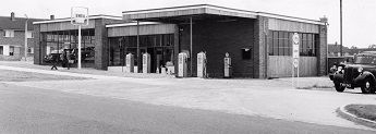 Creaseys petrol and service station opens on Cuttys Lane in 1958