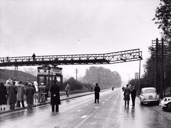 The bridge nears completion, November 1955