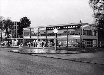 The Central Garage in the Town Centre, taken in about 1958