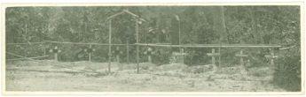 Graves at No 1 POW camp. Many POWs did not make it home.