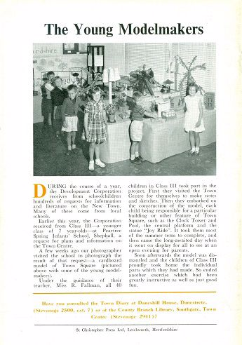 Back page story of Purpose, Summer 1964