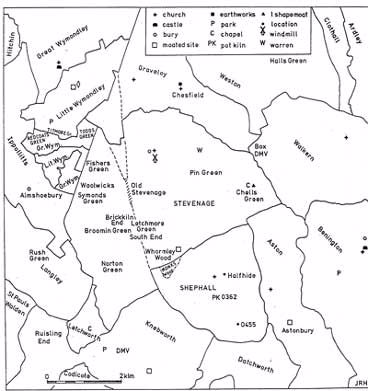 Medieval Parishes in the Stevenage Area