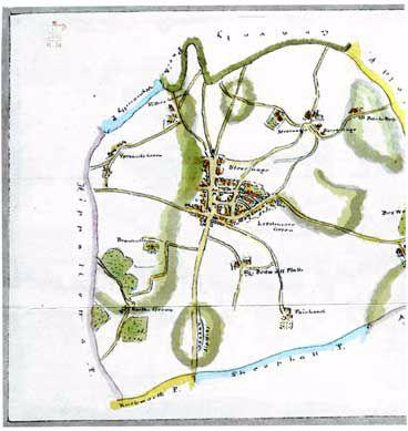 Map of Stevenage c.1750