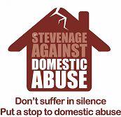 Stevenage Against Domestic Abuse house logo