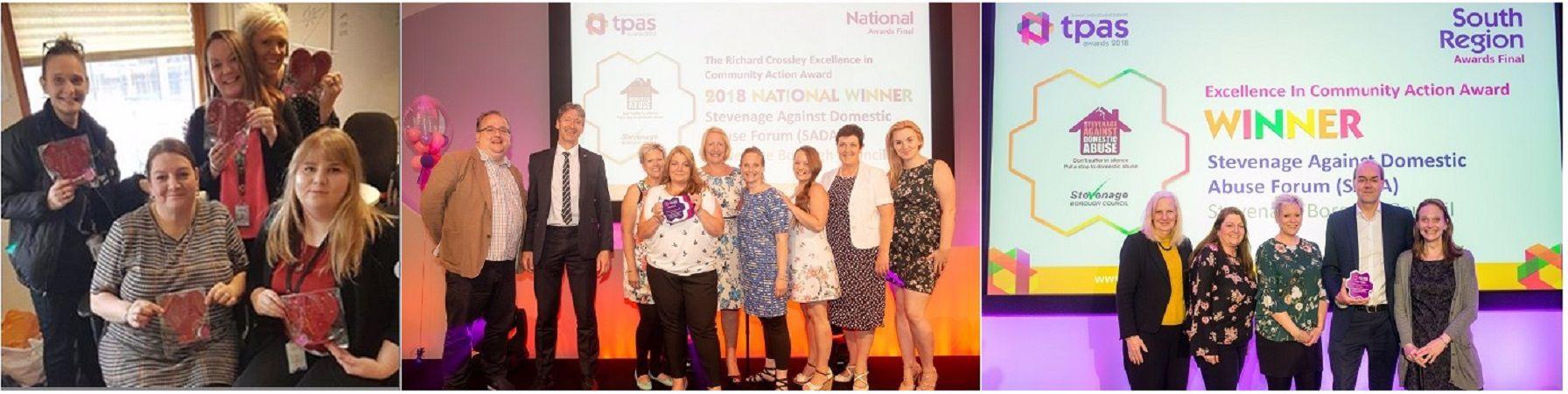 The SADA team at the tpas awards